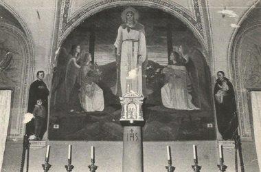 1982, altare della cappella Monastero San Paolo d'Argon