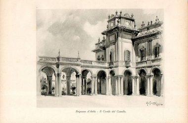 Cortile del castello 1933 Brignano Gera d'Adda