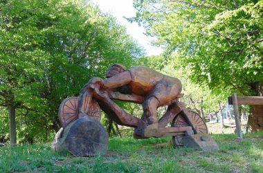 Santuario del Colle Gallo opera realizzata da Enus Milesi scultore con MOTO SEGA