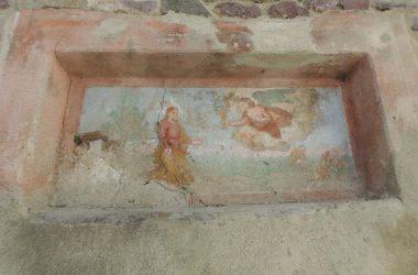 Affresco ingresso ex convento frati Valnegra