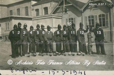 Albino Cotonificio Honegger squadra pompieri 1941