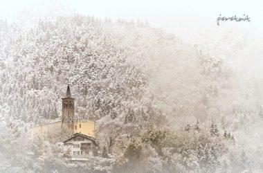 Almenno San Bartolomeo con Neve