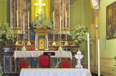 Altare Festa Madonna dei Campelli di Olmo al Brembo