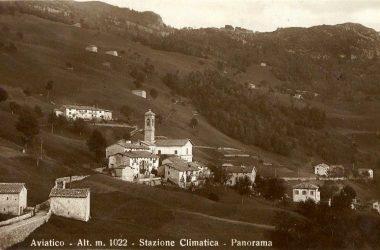 Aviatico (Bg) La Via Mercatorum prima della chiesa di San Rocco