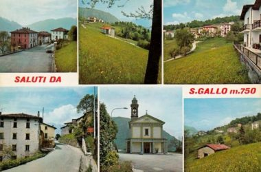 Cartolina San Gallo 1973 San Giovanni Bianco