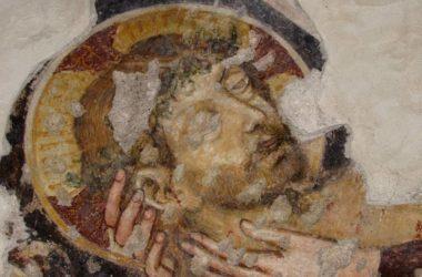 Chiesa di S.Sebastiano a Nembro - Particolare affresco Deposizione del Cristo