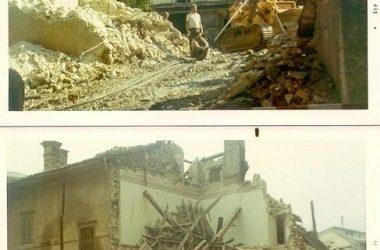 Demolizione edificio piazza di Leffe