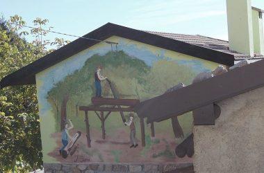 Dipinti Aviatico località Ganda Bergamo