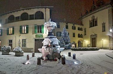 Fontana Casnigo con la Neve