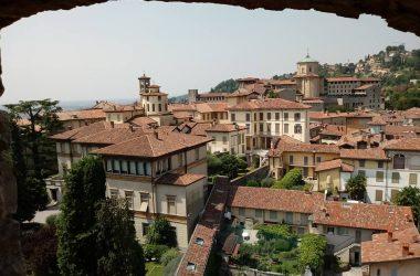 Immagini dalla Torre Civica Campanone Bergamo Alta