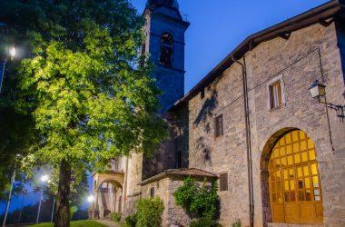 Immagini serali Santuario Santissima Trinità - Casnigo