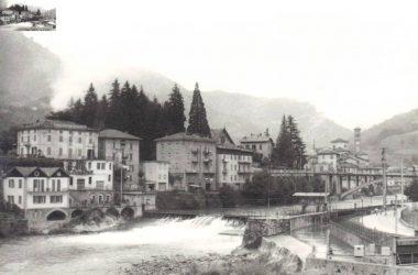 La diga San Giovanni Bianco nel 1975