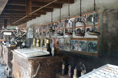 Lampade antiche Miniera Schilpario