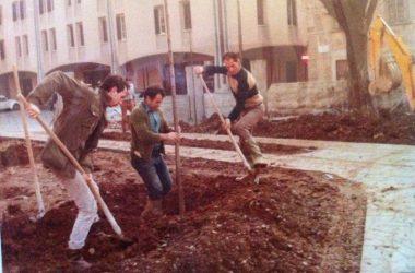 Lavori Giardino Asilo nel 1970 Cologno al Serio