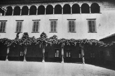 Leffe Palazzo Mosconi con il pergolato