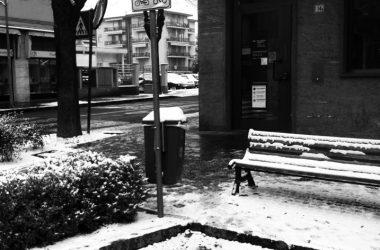 Neve in piazza Azzano San Paolo