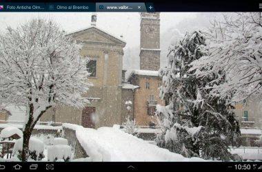 Olmo al Brembo Chiesa con la Neve