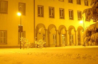 Palazzo Belli con la neve- Grassobbio