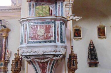 Rovetta - Bergamo -Chiesa Parrocchiale di Tutti i Santi -il pulpito del 1780