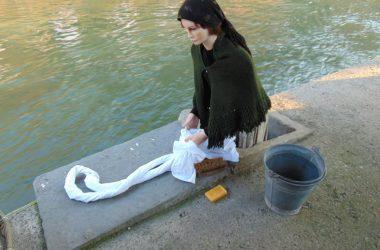 Statue presepe dei lavandai alle Ghiaie - Paladina