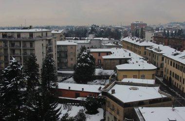 Torre Boldone con la neve
