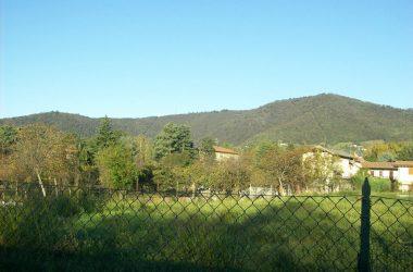 colle di ranica visto dalla pista ciclabile verso alzano lombardo