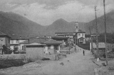viale stazione Albino anni 40