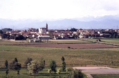 Casirate d'Adda vista dal campanile di Arzago