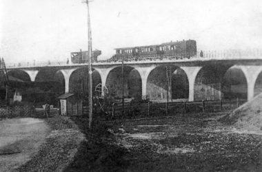 Il vecchio tram sul ponte Casirate d'Adda