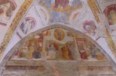 Affreschi Cerete Alto Bergamo Cappella dell'Annunciata o Cappella Marinoni