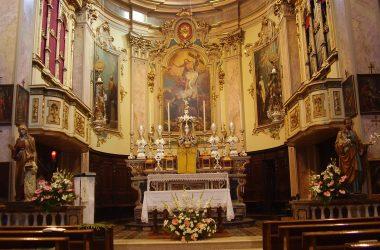 Altare Chiesa di Sant' Antonio Abate di Fiumenero. Valbondione