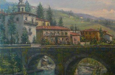 BRACCA - PONTE MERLO quadro di Giacomo Gervasoni di Zogno