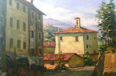BRACCA in un quadro di Giacomo Gervasoni del 1985