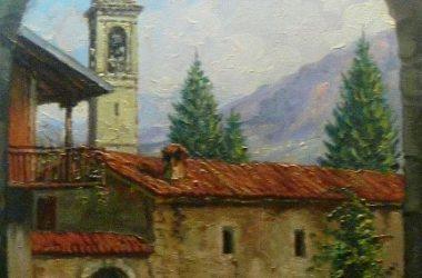 BRACCA quadro di Giacomo Gervasoni di Zogno del 1990