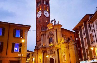 Basilica di San Martino di sera Treviglio