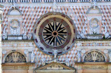 Bergamo Cappella Colleoni Il rosone