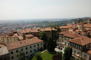 Bergamo dalla Torre Civica Campanone Bergamo Alta