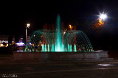 Brembate Sopra la fontana di sera