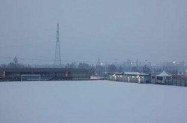 Campo calcio di Filago innevato