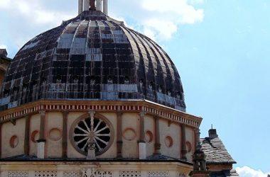 Cappella Colleoni -La struttura ottogonale con il tamburo e la cuspide