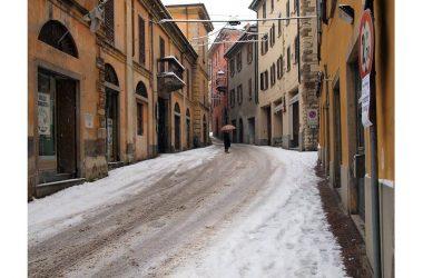 Caprino Bergamasco con la neve