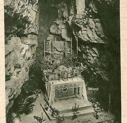 Cartolina d'epoca della grotta di Rosciano Ponteranica