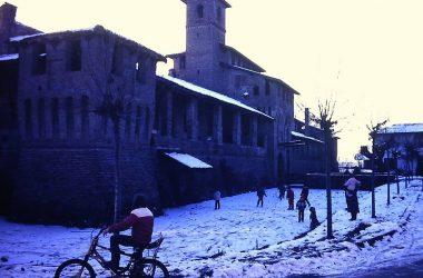 Castello Pagazzano con la neve