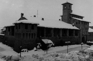 Castello di Pagazzano con neve