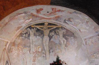 Cerete Alto Bergamo Cappella dei Caduti affresco 1431