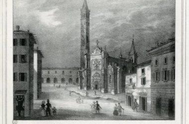 Chiesa di San Martino in Treviglio (Litografia Pietro Filippini 1838)