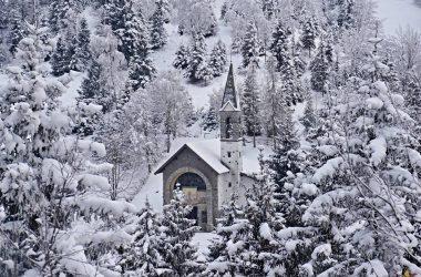 Chiesetta Val Piana inverno- Gandino
