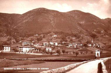 Cirano di Gandino dal cimitero vecchio prima del 1940