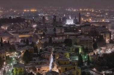 Città alta Bergamo inverno
