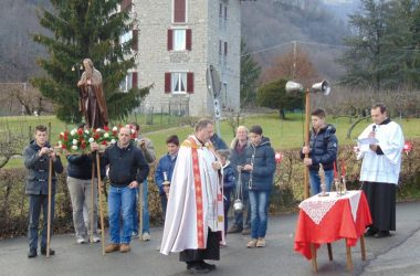 Corna Imagna festa di S. Antonio Abate a Brancilione